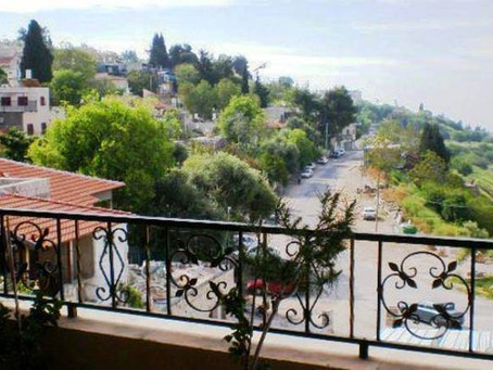 Panoramic View of Safed & The Galilee Mountains From Hotel Palacio Domain  Luxury Suites Terrace