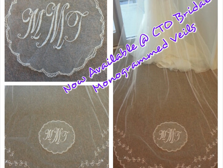 Monogrammed Veils - Now Available