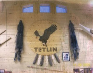 Tetlin logo in Tribal Hall