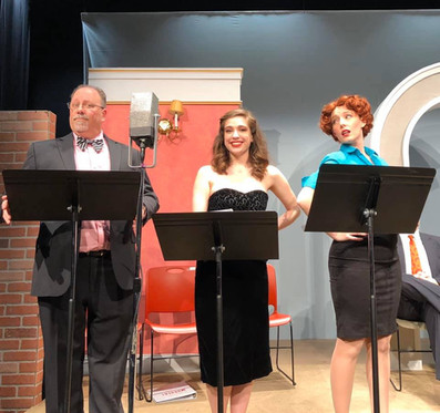 """The role of Kate Peabody in Pegasus Theater's presentation of """"A Critical Case of Murder"""" in their RadioVizion show."""