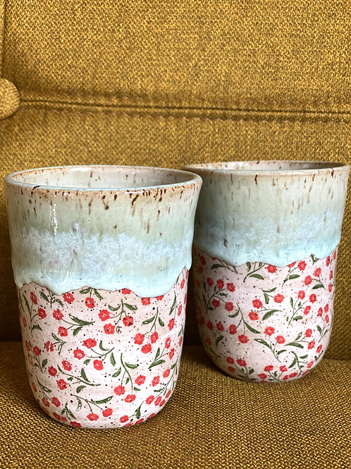 Pair of Little Anemone Wine Cups