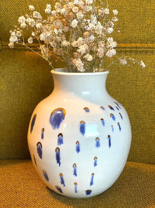 Raindrops Vase w/ 22 kt gold accent