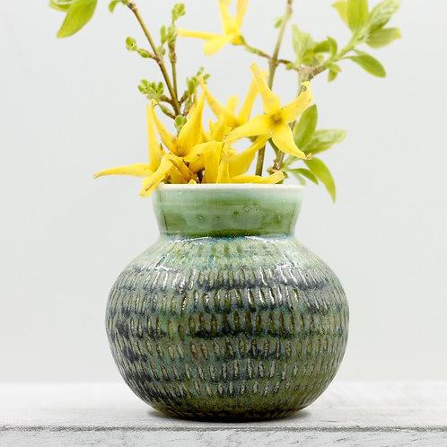 Mossy Green Bud Vase