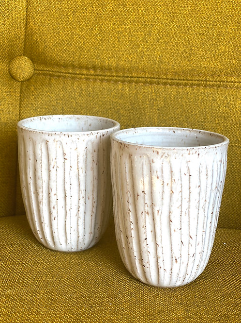 (Set of 2) CarvedS Soft Speckle Wine Cup