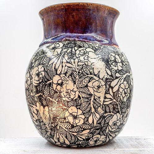 Tall Purple Honey Vase
