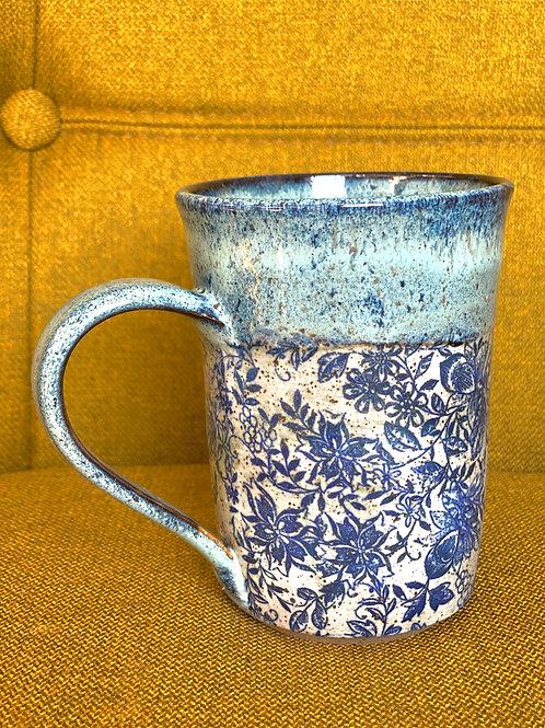 Got the Blues Floral Mug (Cylinder)