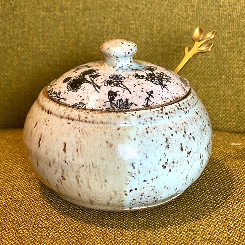 Wildflower Meadow Sugar Jar w/ Spoon