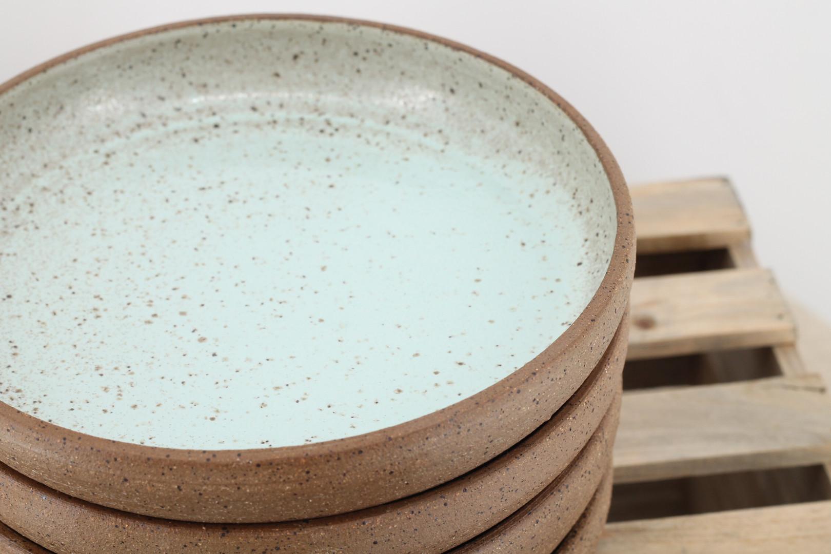 Seafoam and Stone Plates