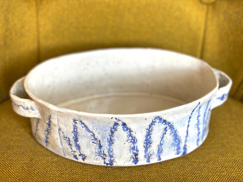Pressed Lavender Oval Serving Dish
