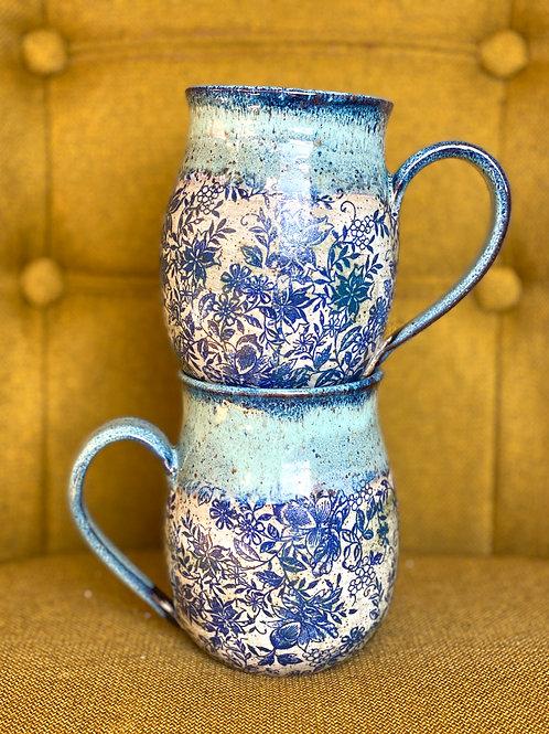 Got the Blues Floral Mug (Curvy)