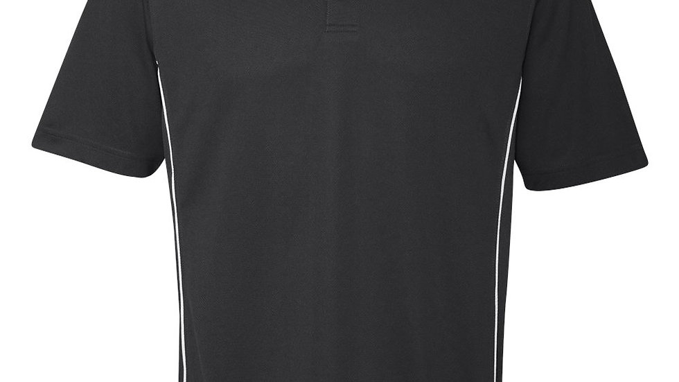 Black with White side strip Polo