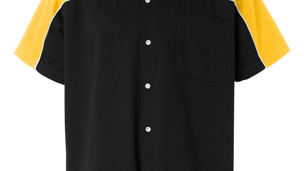 Black and Gold Bowling Shirt