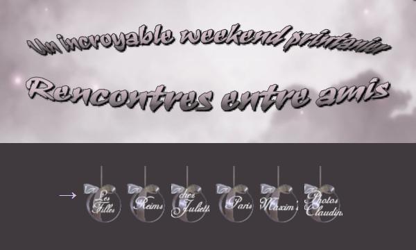 Un weekend printanier