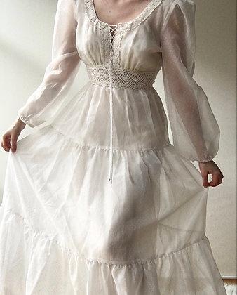 60s prairie gown XS
