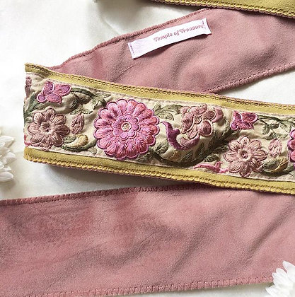 Dahlia in Duo Lime & Pink (139cm - embroidery 83cm)