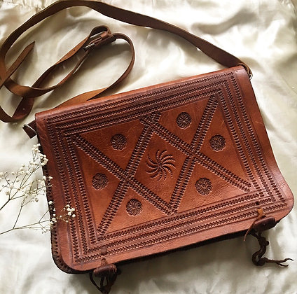 Vintage Moroccan leather bag