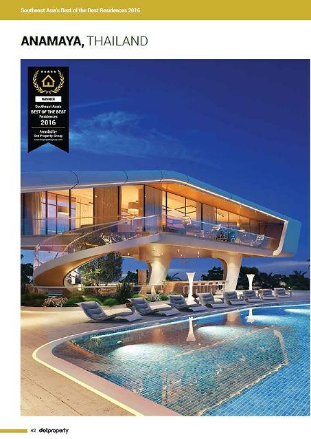 Anamaya Samui. Dot Property Award Winer BEST OF THE BEST Residences