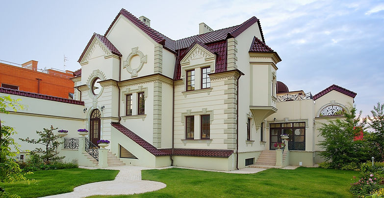 romantic family house