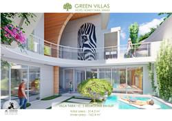 TARA C  quiet green villa, garden view