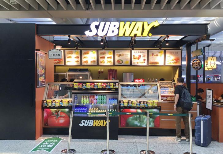 SUBWAY kiosk. Shanghai, Hongqiao Railway Station.