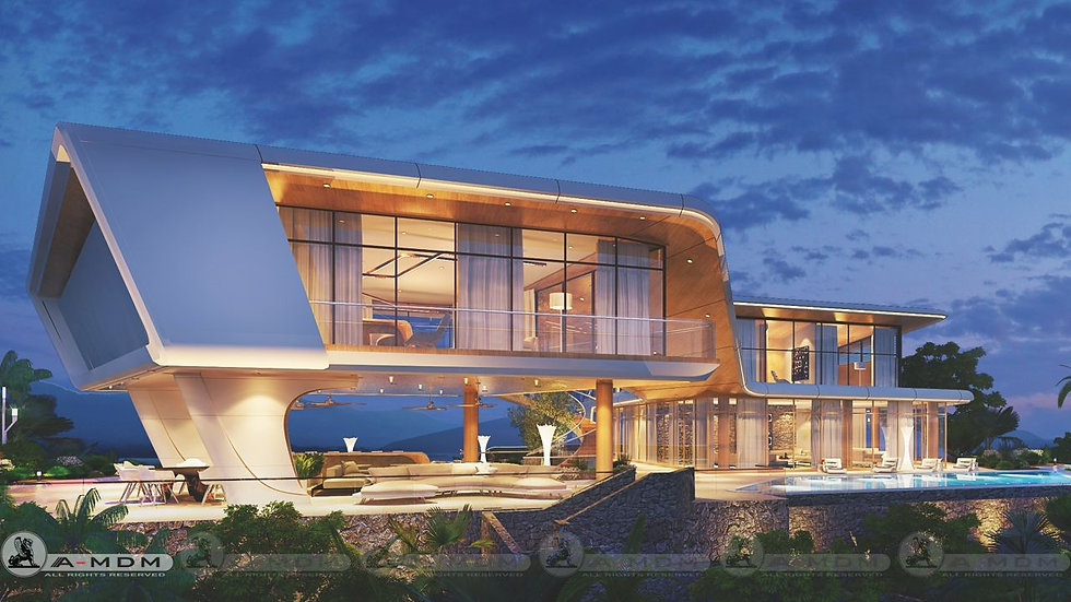 Villa B1, 6+1 bedrooms, 2022.7 m²