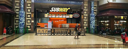 "Kiosk for ""SUBWAY"". Prefab Design, Production, Installation."