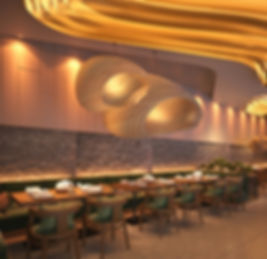 Cosmopolitan HOT POT  Restaurant and Lounge. Sitting area. Contemporary Design