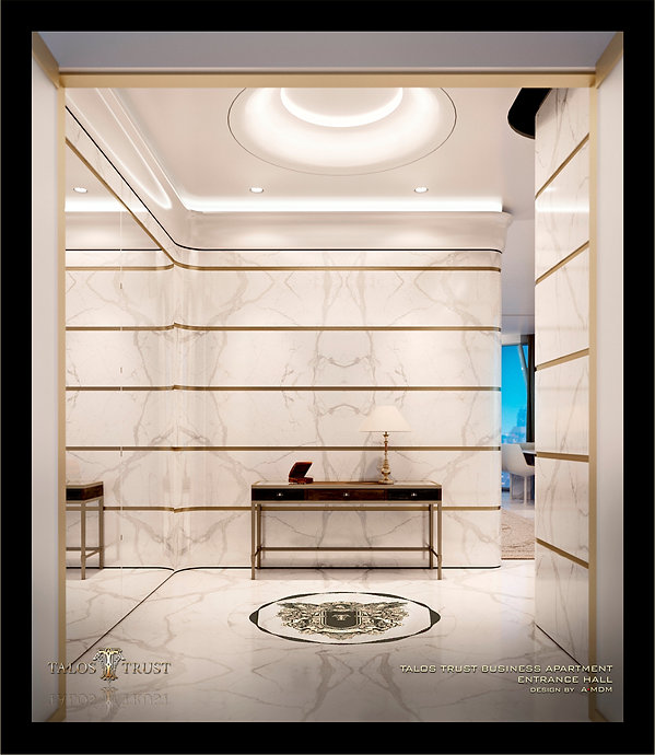 Entrance Hall, luxury apartment