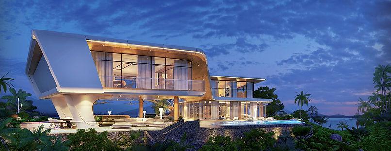 supper luxury villa, panoramic sea view villa