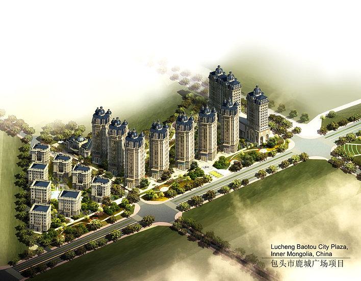 Lucheng Baotou City Plaza, Bird View