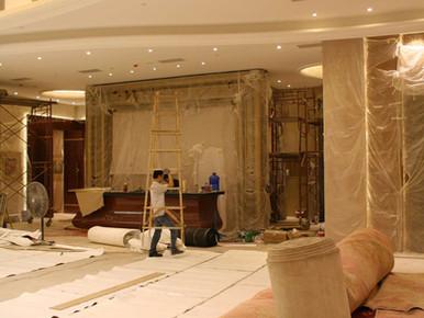 Casino Long Xin - installation of lights, carpet, sanitary, VIP room