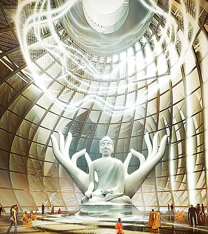 Buddha temple china