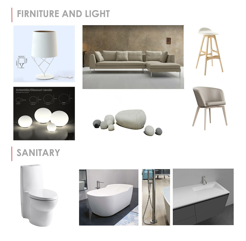 Furniture and Light. Sanitrary