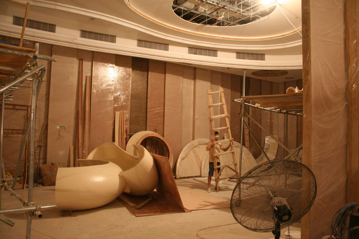 Casino Long Xin - installation of the Pre-Craft elements