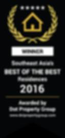 Dot Property award. Winer BEST OF THE BEST Residences.