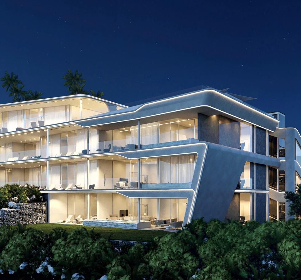 ANAMAYA Apartment building HS. East Facade 2. Night.jpg