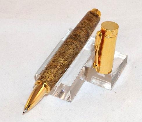 Zazen, Gmelina Burl, Gold Hardware