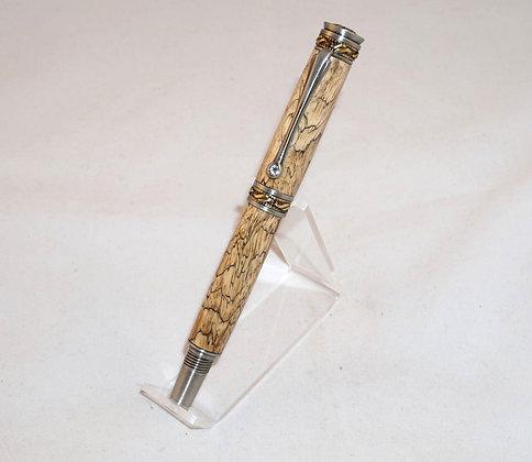 Windsor JR, EG Spalted Tamarind, Antique Pewter & Brass Hardware