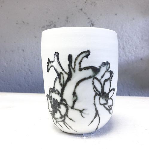 Gobelet Cœur et Fleurs 1