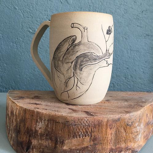 Tasse / Mug Motif coeur et fleur
