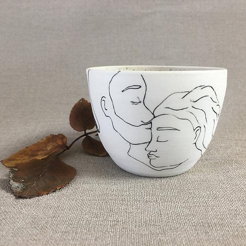 Petite tasse motif amoureuse passion