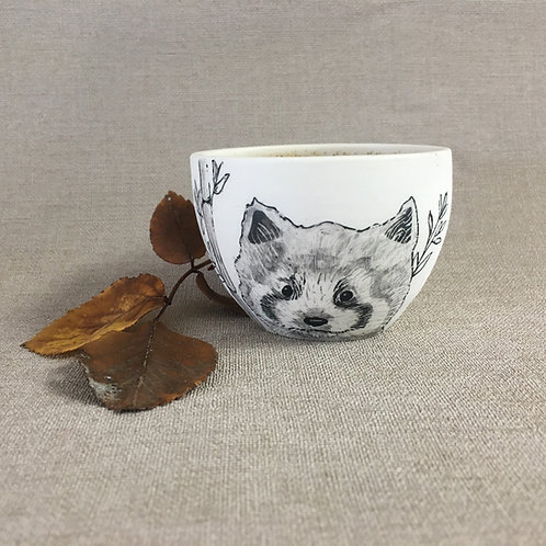 Petite tasse motif  panda roux