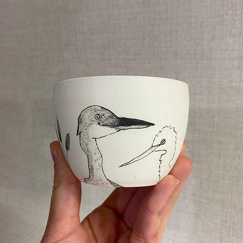 Tasse motif oiseaux