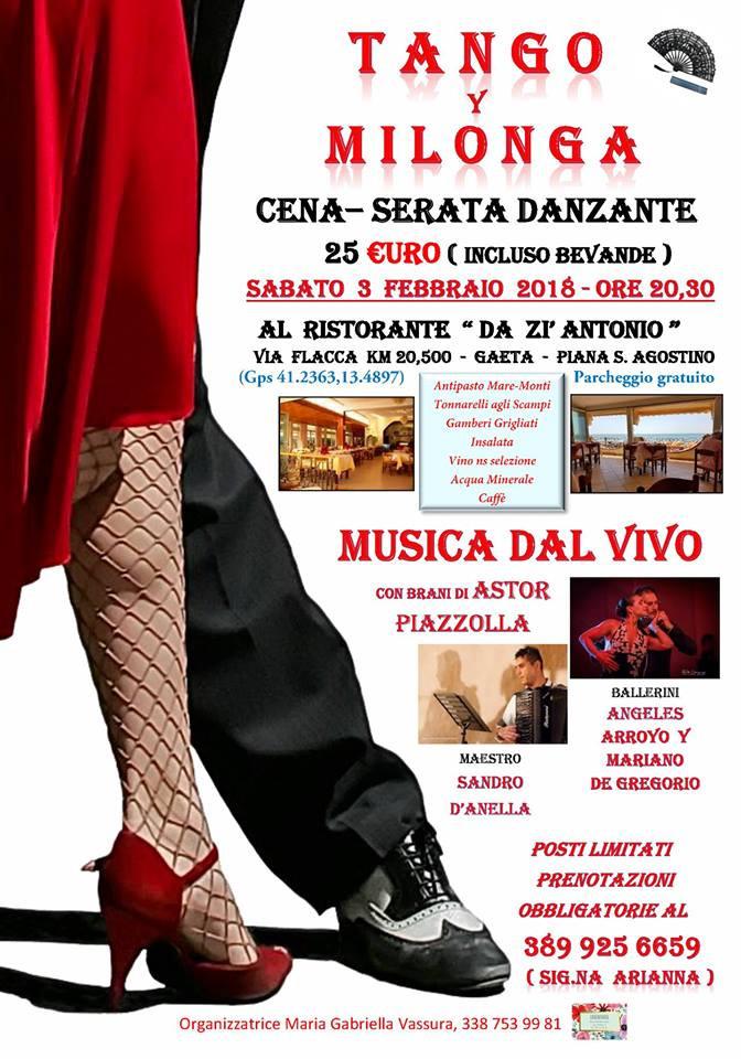 Tango y Milonga - 3 Febbraio 2018 - Gaeta