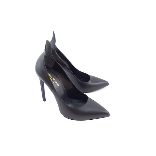 Saint Laurent 'Thorn' 115 Black Calfskin Leather