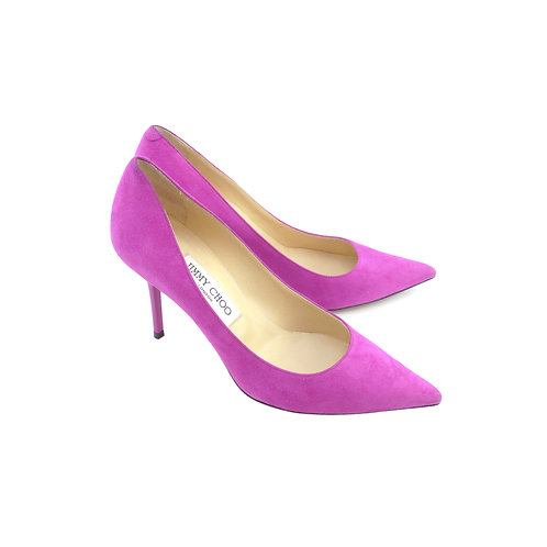 Jimmy Choo 'Agnes' Jazzberry Suede