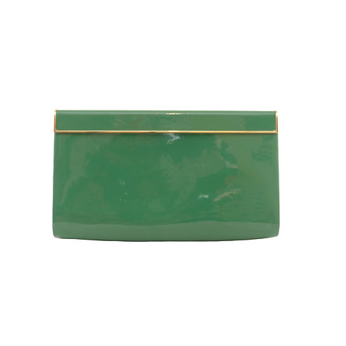 Jimmy Choo 'Cayla' Jade Patent Leather Clutch Bag