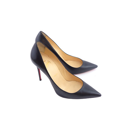 Christian Louboutin 'Decollete 554' 100 Black Kid Leather