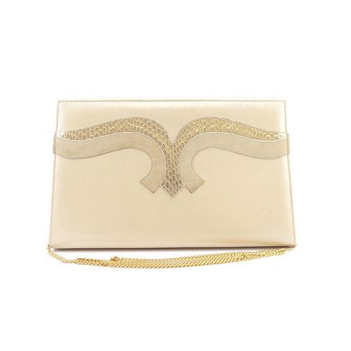 Gina Cream Clutch Bag