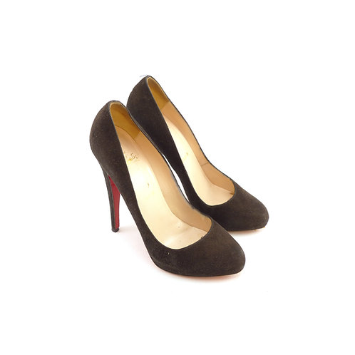 Christian Louboutin 'Declic 140' Black Suede